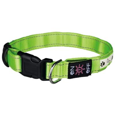 Trixie obroża z lampą błyskową na USB zielona dla psa