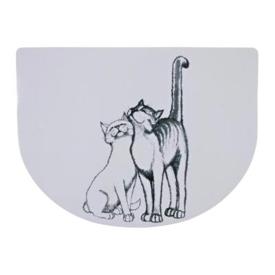 Trixie Podkładka pod miskę dla kota Pussy Cat 40x30 cm Półokrągła