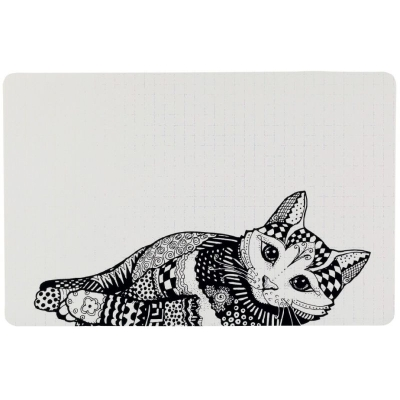 Trixie Podkładka pod miskę ZENTANGLE 44x28cm dla kota
