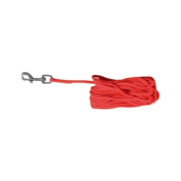 Trixie Linka nylonowa 15m/5mm czerwona dla psa