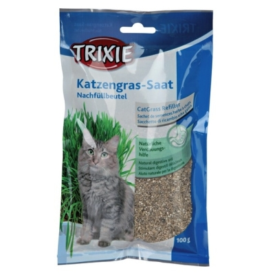 Trixie Trawa dla kota w woreczku - 100g