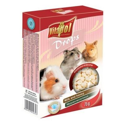 VITAPOL Dropsy dla gryzoni mleczno-miodowe 75 g
