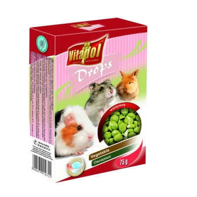 VITAPOL Dropsy dla gryzoni warzywne 75 g