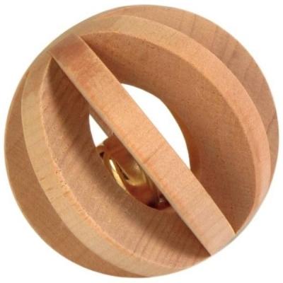 Trixie Piłka drewniana z dzwonkiem 6 cm dla gryzoni