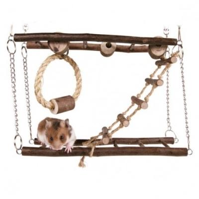 Trixie Drewniany mostek wiszący dla chomika, myszy 27x17x7cm