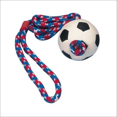 TRIXIE - piłka gumowa na sznurku 6cm/1m dla psa i kota