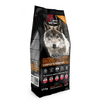 Karma sucha dla psa Alpha Spirit miękka MULTIPROTINA 1,5kg