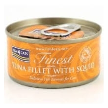 Karma mokra dla kota Fish4Cats Filety różne smaki - 1x70g Tuńczyka z kałamarnicami
