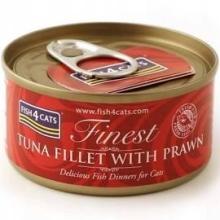 Karma mokra dla kota Fish4Cats Filety różne smaki - 1x70g Tuńczyka z krewetkami