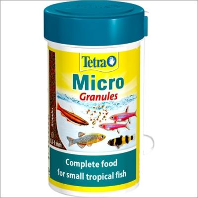 Tetra pokarm dla ryb akwariowych  TETRA Micro Granules – pokarm dla małych ryb ozdobnych 100ml