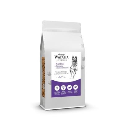 Karma sucha dla psa  Wataha Superfood kaczka z batatami i pomarańczami Karma sucha dla psa dorosłego ras średnich 2kg, 6kg, 12kg GFF