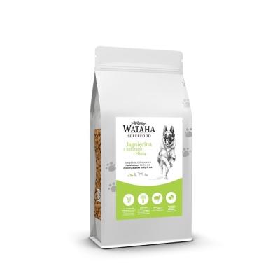 Karma sucha dla psa  Wataha Superfood jagnięcina z batatami i miętą 2kg, 6kg sb NGE Karma sucha dla psa dorosłego ras małych