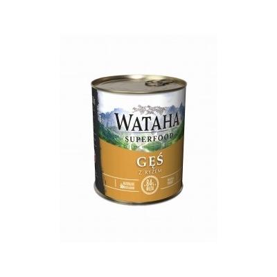 Karma mokra dla psa WATAHA  83% Gęś z ryżem 410g, 850g