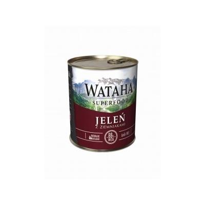 Karma mokra dla psa WATAHA  86% jelenia z ziemniakami 410g, 850g