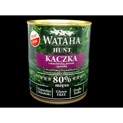Karma mokra dla psa WATAHA 80% Adult Kaczka z Prosem 800g
