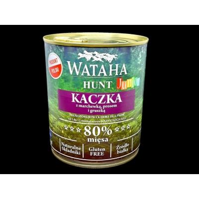 Karma mokra dla psa WATAHA 80% Junior Kaczka z Prosem 800g