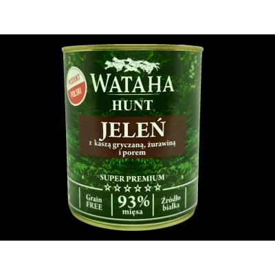 Karma mokra dla psa WATAHA 93% Adult Jeleń z żurawiną i porem 800g