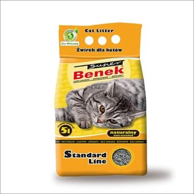 Żwirek dla kota i gryzoni Benek Super Natural /Żółty/ 5L, 10 L, 25 L