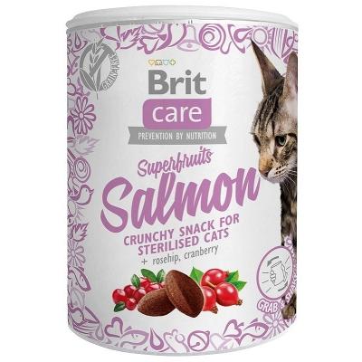 Przysmaki dla kota Brit Care Cat Snack Superfruits Salomon 100g