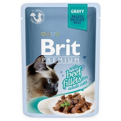 Karma mokra dla kota Brit Care Cat Pouch Gravy Fillet Beef  saszetka 85g