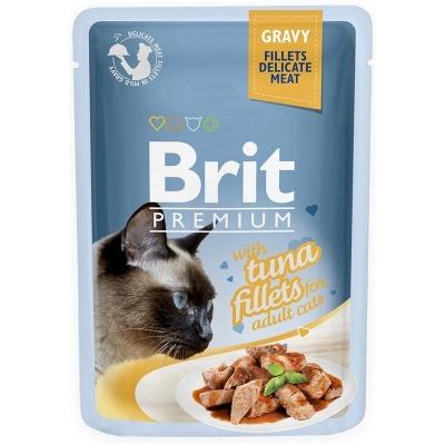 Karma mokra dla kota Brit Care Cat Pouch Gravy Fillets Tuna saszetka 85g