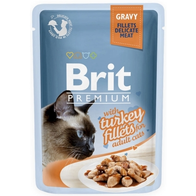 Karma mokra dla kota Brit Care Cat Pouch Gravy Fillets Turkey saszetka 85g