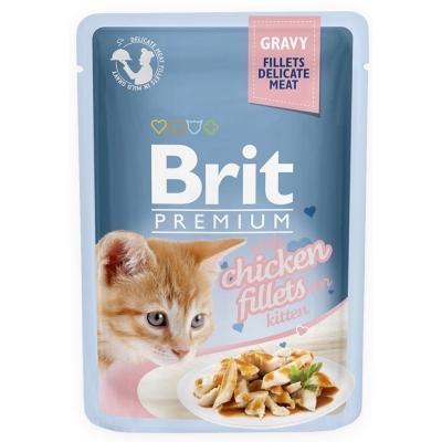 Karma mokra dla kota Brit Care Cat Pouch Gravy Fillets Kitten Chicken Fillets saszetka 85g
