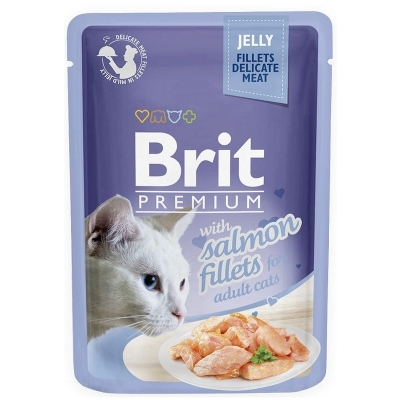 Karma mokra dla kota Brit Care Cat Pouch Jelly Fillets Salmon saszetka 85g