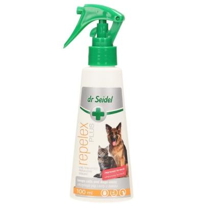 DERMAPHARM Dr Seidel REPELEX Plus Płyn odstraszający zwierzęta o przedłużonym działaniu dla psów i kotów 100ml