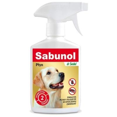 DERMAPHARM Dr. Seidel - Sabunol płyn do zwalczania pcheł i kleszczy w otoczeniu zwierząt 250 ml