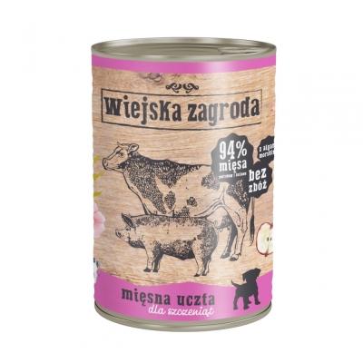 Karma mokra dla psa Alpha Spirit Wiejska Zagroda Mięsna uczta dla szczeniaków 200g, 400g, 800g