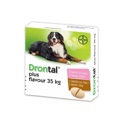 Bayer Drontal  Plus Flavour - 2 tabletki dla psów