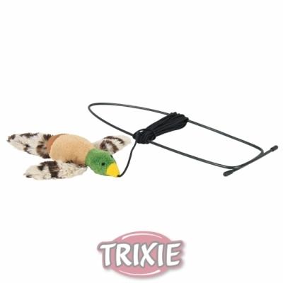 Trixie Squieky-zabawka latający ptak do zawieszania na framudze drzwi dla kota