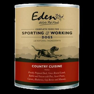 Karma mokra dla psa Eden Country Cuisine 400g puszka