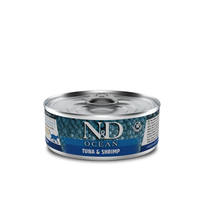 Karma mokra dla kota Farmina Cat N&D Ocean Tuna, Squid & Shrimp  Adult - 80g