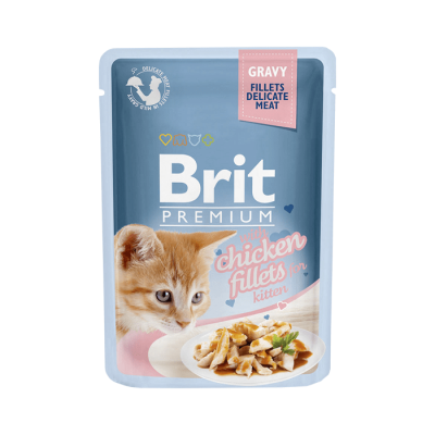 Karma mokra dla kota Brit Care Cat Pouch Gravy Fillets Chicken saszetka 85g