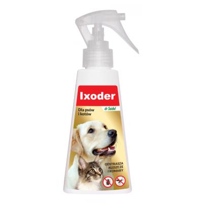 DERMAPHARM Dr Seidel Ixoder Spray Przeciw Kleszczom i Komarom dla psów i kotów 100m