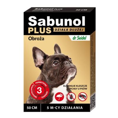 DermaPharm Sabunol Plus - Obroża przeciw pchłom i kleszczom dla psa 50cm