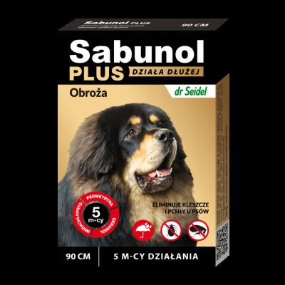 DermaPharm Sabunol Plus - Obroża przeciw pchłom i kleszczom dla psa 90cm